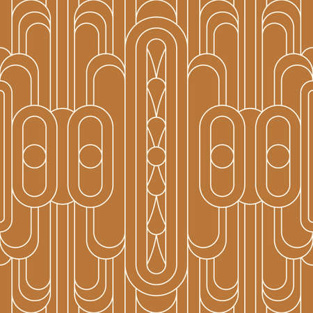 Art Deco Seamless Pattern in a Trendy Minimal Linear Style. Vector Abstract Geometric Background with Arches. Vecteurs