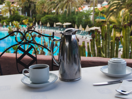Beautiful accommodation,  breakfast hotel terrace over sea view  outdoor