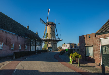 Dutch national mill, view from road of village