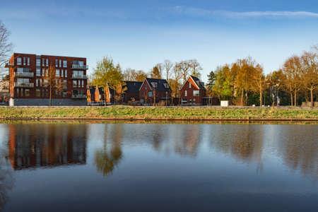 New houses in residential area Warandepoort in Oosterhout, Netherlands.