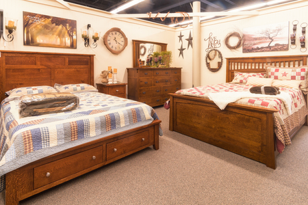 sumptuousness: bedroom interior Stock Photo