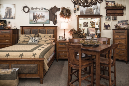 house with style: cowboy bedroom Stock Photo