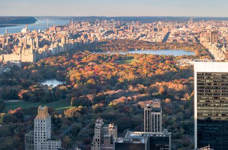 george washington: New York City skyline and the Central Park Foto de archivo
