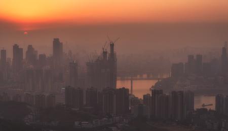 Chongqing skyline at sunset