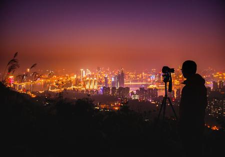 photographing the night city - Chongqing