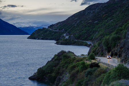 road trip on New Zealand winding road