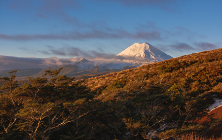 Mount Taranaki, Mount. Egmont National Park, New Zealand Stock Photo - 104978237