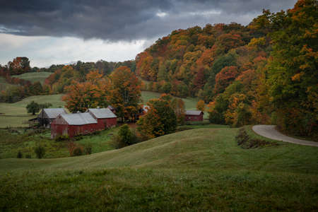 Fall landscape, Jenne Farm, Vermont USA