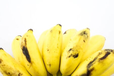 A bunch of banana on white background