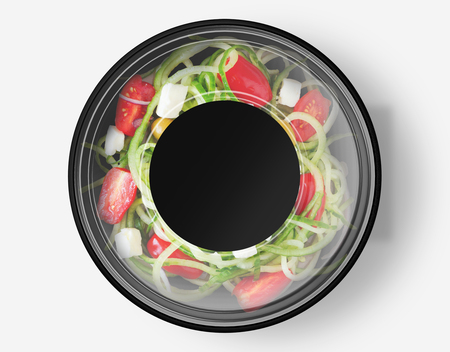 Salad Box Mockup Stock Photo