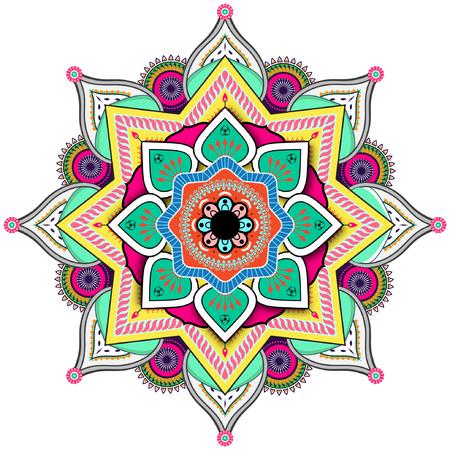 Beatiful colorful indian style mandala Stock Vector - 109100173