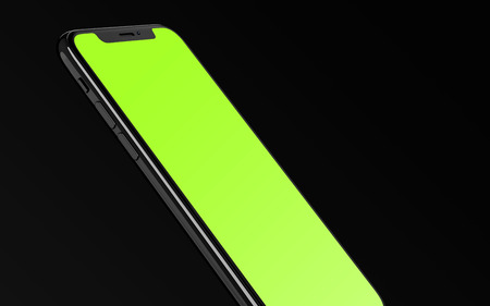 Floating Phone Side View Mockup