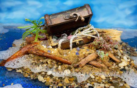 Treasure Island with painted Sky photo