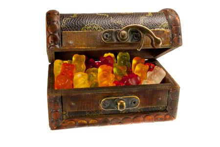 nosh: Gummy bears in a treasure