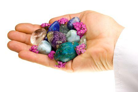yarrow: Semi- precious stones