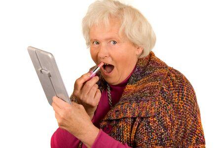 Senior Lady with Lipstick Stock Photo - 8439179