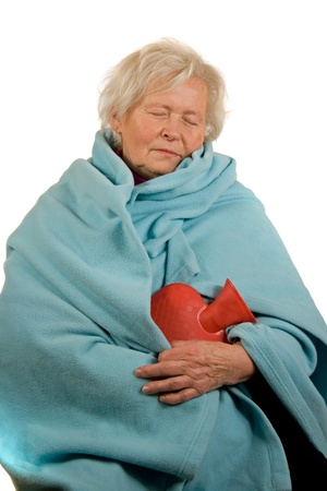 cooled: Senior Lady is Sleeping Stock Photo