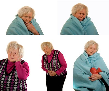 differnt: Senior Lady with Differnt Diseases