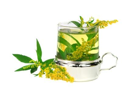 goldenrod: Tea from goldenrod (Solidago gigantea) for healing kidney diseases