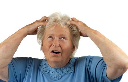 despaired: desperate senior woman