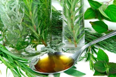 Herbs for medicine Stock Photo