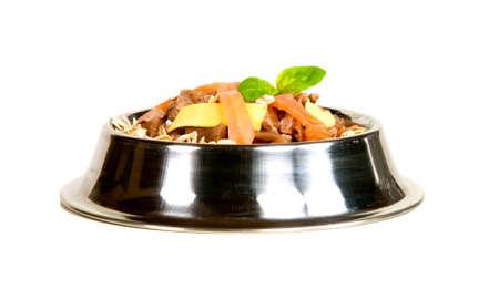tasteful: Tasteful cat food on white background