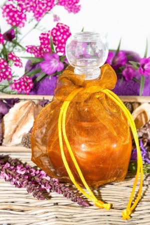 Bath oil for wellness and spa. photo