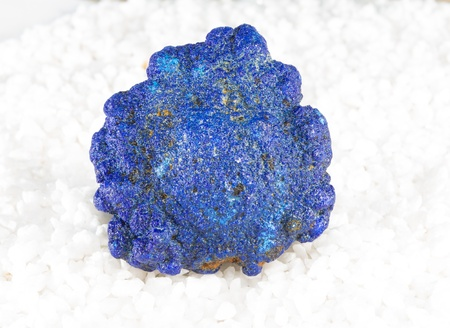 healers: Azurite is a copper carbonate and copper ore which can produce crystals sought after by mineral collectors and crystal healers when it is used for meditation and stress Stock Photo