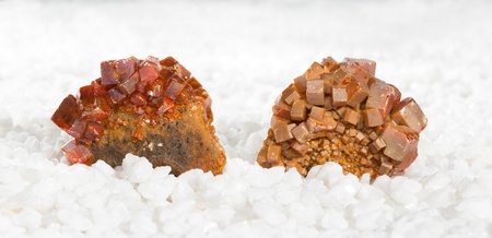 astral: Specimens covered in tabular wulfenite crystals, a lead molybdate mined as a molybdenum ore and used metaphysically in white magic, as an energising stone and for astral travel Stock Photo