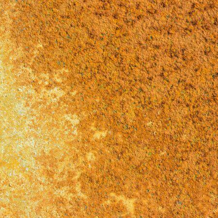 sheet iron: orange rust texture background on old iron sheet for background