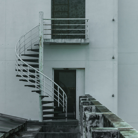 steps and staircases: old spiral ladder Stock Photo