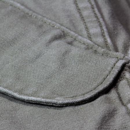 緑の布で縫製シーム