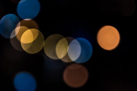 multiple color of light bokeh Stock Photo