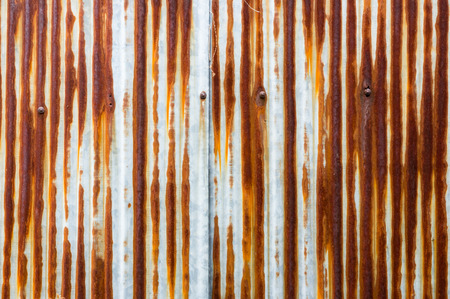 dirty  and rusty brown color zinc plate wall for background