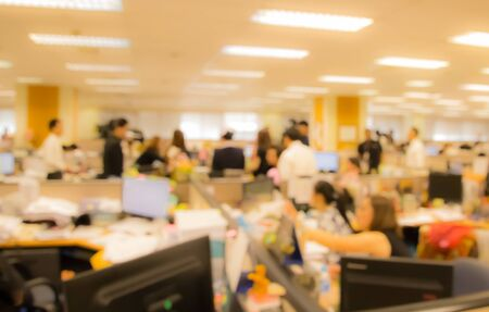 blur office worker  busy working in rush hour