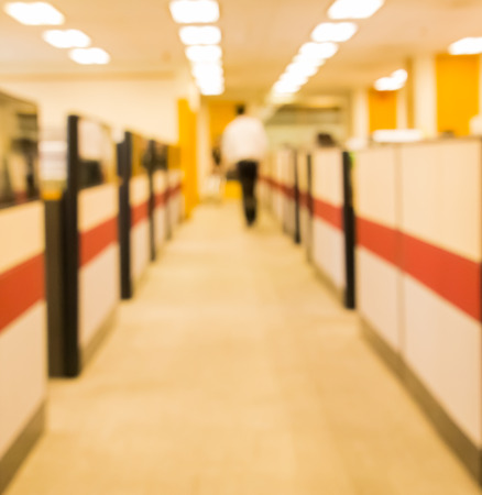 blurred corridor in office Stock Photo