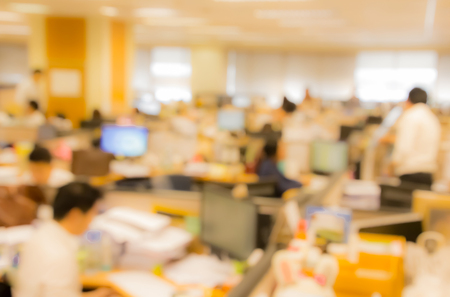 blurred office worker  busy working Stock Photo