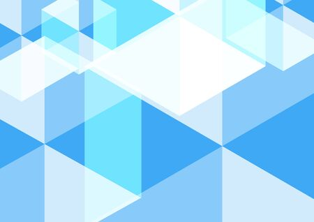 Geometric abstract hexagon perspective background in white and blue. Using for structure molecule, digital futuristic minimalism, big data visualization, technology, and science pattern template.