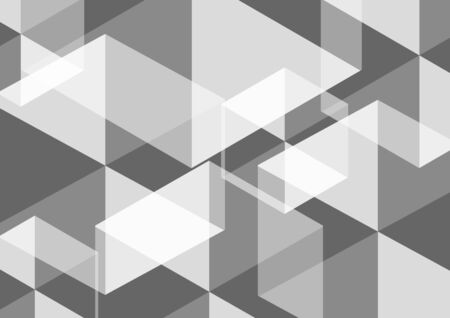 Geometric abstract hexagon perspective background in white and gray.Using for structure molecule, digital futuristic minimalism, big data visualization, technology, and science pattern Template.