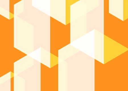 Geometric abstract hexagon perspective background in white and orange. Using for structure molecule, digital futuristic minimalism, big data visualization, technology, and science pattern template.