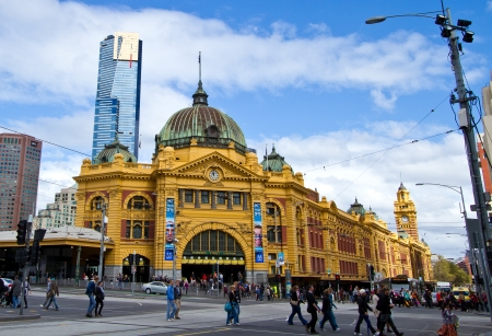 melbourne: Flinders Street Station Melbourne