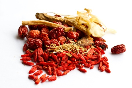 ginseng: Ingredients for Chinese herbal soup