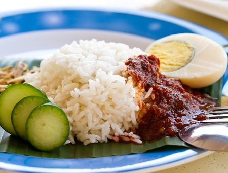 Malaysia coconut rice - Nasi Lemak photo