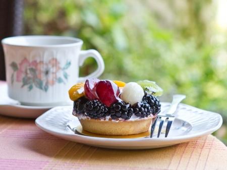 Fruit tart for afternoon tea break