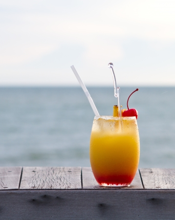 Relax with a mocktail by the beach