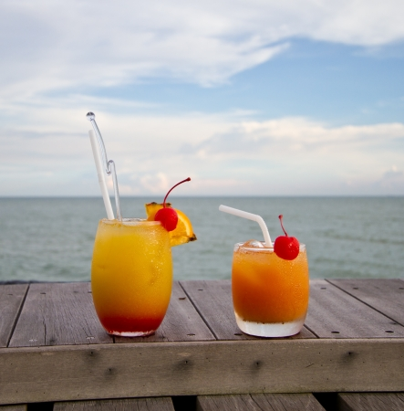 Fruit punch by the beach photo