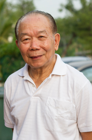 70s: Chinese man in his 70s Stock Photo