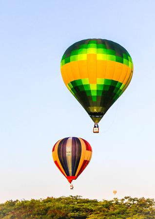 Putrajaya,Malaysia - March 13, 2015 : The hot air ballons flies to the sky during Putrajaya in The 7th Putrajaya International Hot Air Balloon Fiesta. Putrajaya,Malaysia. Editorial