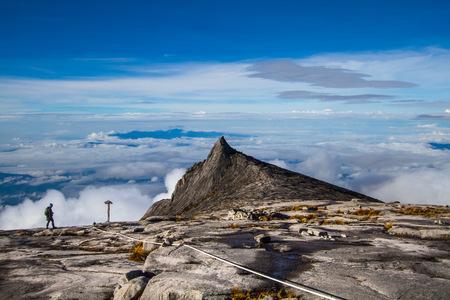 South Peak at Mount Kinabalu, Sabah, Malaysia Stock Photo