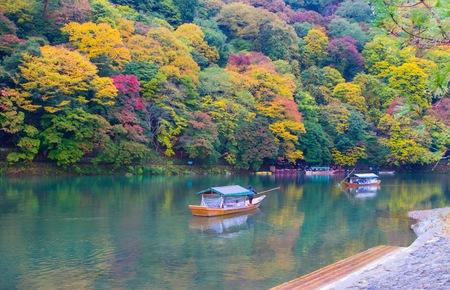 aisa: A rainy day at the Arashiyama area in Kyoto, Japan on November 2015